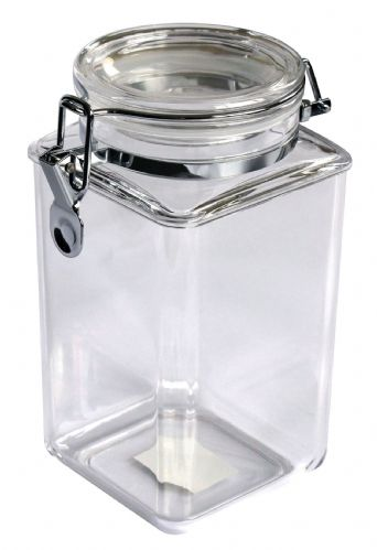 53 OZ Square Clip Jar, MS, Sealed Lid